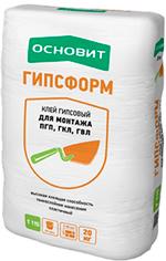 Клей для ГКЛ и ПГП ОСНОВИТ ГИПСФОРМ Т-115